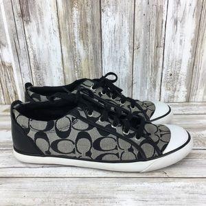 Women's Coach Barrett 10B Black white sneakers